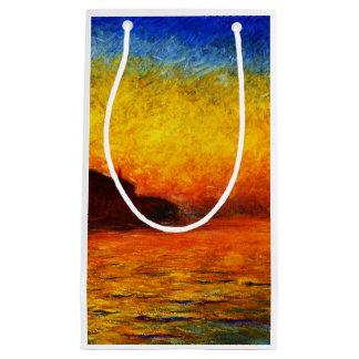 Petit Sac Cadeau Monet-Coucher du soleil de Claude à Venise