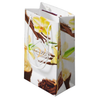 Petit Sac Cadeau Monogramme doux d'orchidée de vanille d'aquarelle