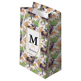 Petit Sac Cadeau Motif floral artistique de batik de vignes
