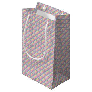 Petit Sac Cadeau Motif géométrique en pastel de triangles