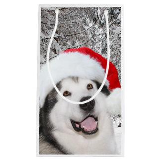 Petit Sac Cadeau Noël de Malamute d'Alaska