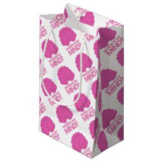 Petit Sac Cadeau où est mon esprit ? avec le cerveau rose