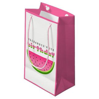 Petit Sac Cadeau Partie rose de pique-nique d'anniversaire de