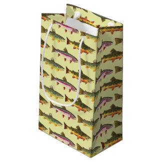 Petit Sac Cadeau Pêche belle de truite, ichtyologie
