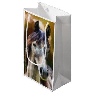 Petit Sac Cadeau Peinture de portrait de cheval de Digitals