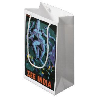 Petit Sac Cadeau Peinture de statue de Shiva