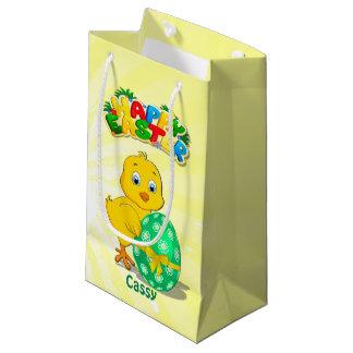 Petit Sac Cadeau Peu de bande dessinée de poulet de Pâques