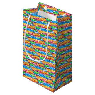 Petit Sac Cadeau Résumé psychédélique multicolore