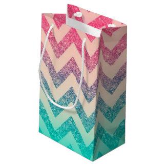 Petit Sac Cadeau Scintillement à la mode frais d'Ombre de zigzag de