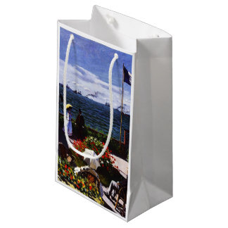 Petit Sac Cadeau Terrasse de Claude Monet-The chez Sainte-Adresse