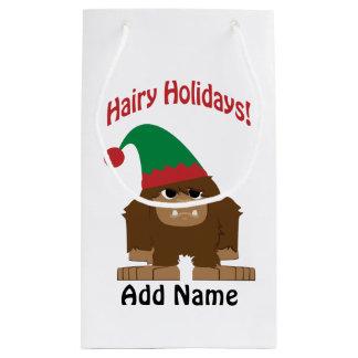 Petit Sac Cadeau Vacances velues ! Noël Sasquatch