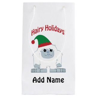 Petit Sac Cadeau Vacances velues ! Yeti de Noël