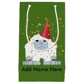 Petit Sac Cadeau Yeti de partie de confettis