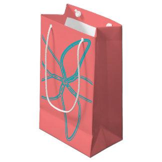 Petit sac de cadeau d'étoiles de mer roses de