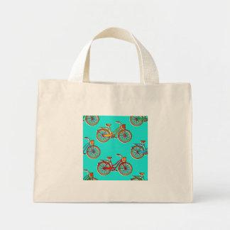 Petit sac fourre-tout à bicyclette bleu-clair