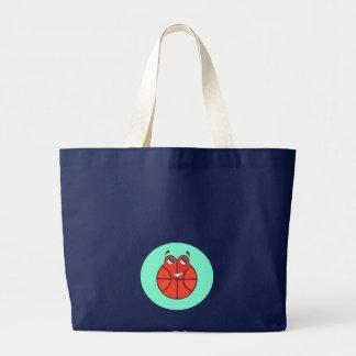 Petit sac fourre-tout heureux à basket-ball