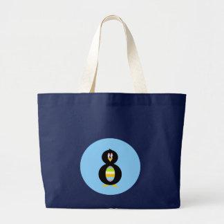 Petit sac fourre-tout heureux à pingouin