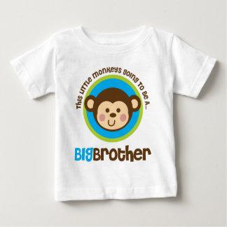 Petit singe allant être un frère t-shirt pour bébé