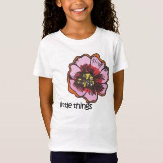 petit T-shirt de fleur de filles de choses