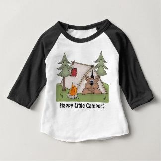 petit T-shirt heureux de bébé de campeur