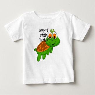 Petit T-shirt heureux de tortue