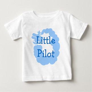 Petit T-shirt pilote de bébé avec l'airplain de