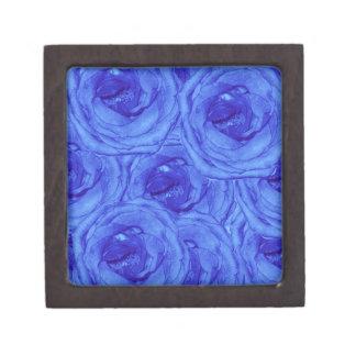 Petite boîte de souvenir de roses bleus