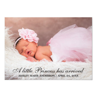 Petite carte de princesse New Baby Photo Carton D'invitation 12,7 Cm X 17,78 Cm