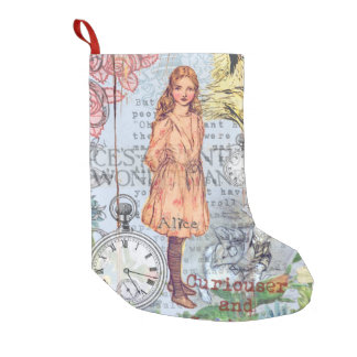 Petite Chaussette De Noël Alice au pays des merveilles Rackham