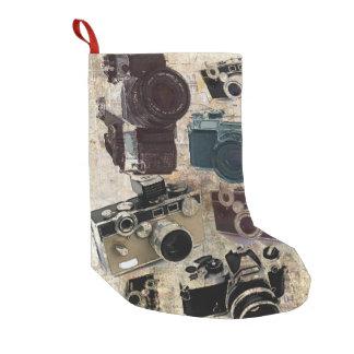 Petite Chaussette De Noël Appareil-photo grunge de cru de photographie de