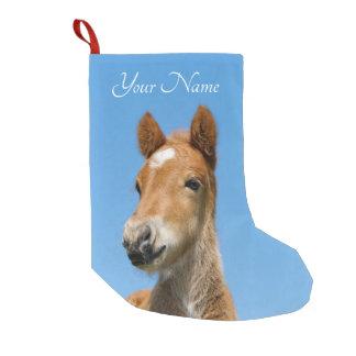Petite Chaussette De Noël Avant islandais mignon de tête de poney de poulain