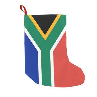 Petite Chaussette De Noël Bas de Noël avec le drapeau de l'Afrique du Sud