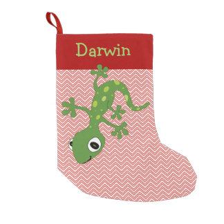Petite Chaussette De Noël Bas de Noël de lézard d'animal familier