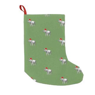 Petite Chaussette De Noël Bas de Noël d'éléphants de Noël