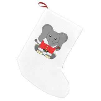 Petite Chaussette De Noël Bas d'éléphant de Noël