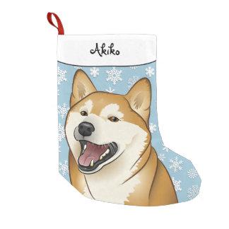 Petite Chaussette De Noël Bas heureux de Shiba Inu de Joyeux Noël