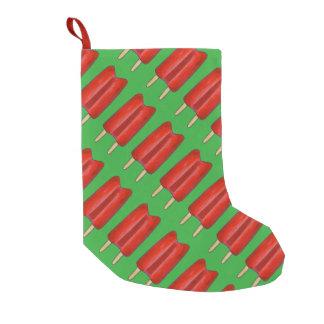 Petite Chaussette De Noël Bas jumeau vert rouge de Noël de Popsicles de