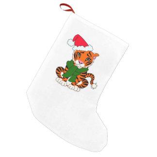 Petite Chaussette De Noël Bas mignon de tigre de Noël