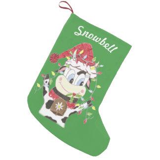 Petite Chaussette De Noël Bas personnalisé de Noël de vert d'animal familier