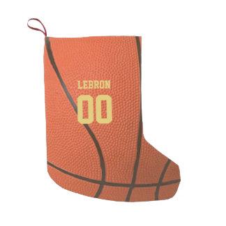 Petite Chaussette De Noël Bas personnalisé par texture de basket-ball