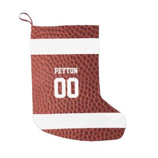 Petite Chaussette De Noël Bas personnalisé par texture du football