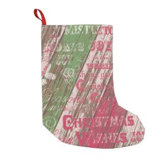 Petite Chaussette De Noël bas rustique de Noël de vacances d'hiver de Noël