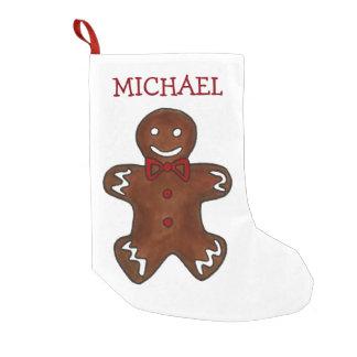 Petite Chaussette De Noël Biscuit de Noël de Noël de vacances de bonhomme en