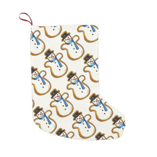 Petite Chaussette De Noël Biscuit de vacances de bonhomme de neige d'hiver