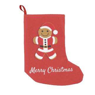 Petite Chaussette De Noël Bonhomme en pain d'épice de Père Noël   stockant