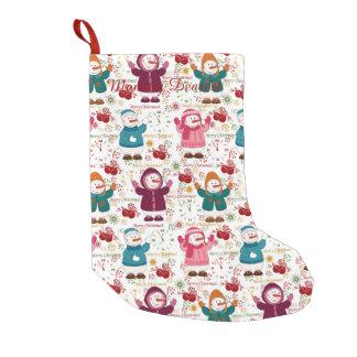 Petite Chaussette De Noël Bonhommes de neige de Joyeux Noël