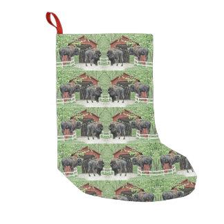 Petite Chaussette De Noël Bonnes fêtes bison de Taureau au pont couvert