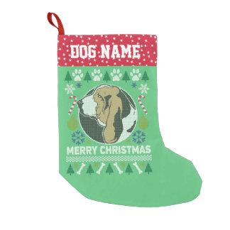 Petite Chaussette De Noël Chandail laid de Noël de race de chien de Basset