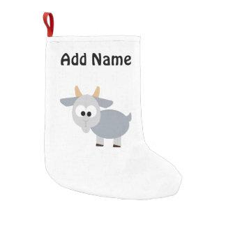 Petite Chaussette De Noël Chèvre grise adorable