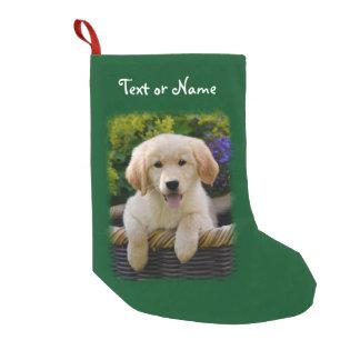 Petite Chaussette De Noël Chiot de charme de chien de chien d'arrêt de